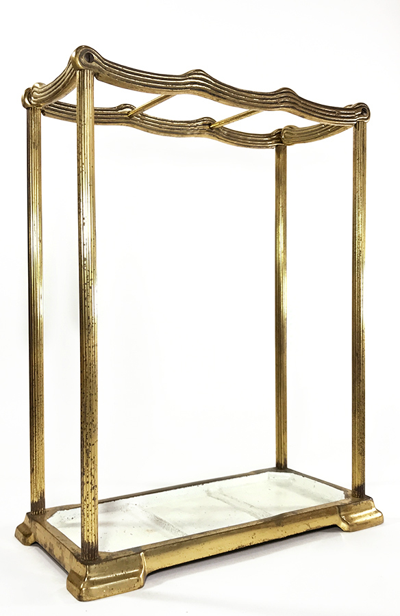 "画像1: 1910-20's German Art Deco ""SOLID BRASS"" Umbrella Stand (1)"
