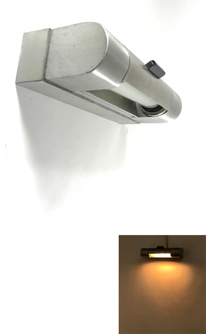 """画像1: 1930-40's Art Deco """"Brushed-Aluminum"""" Reading Light (1)"""