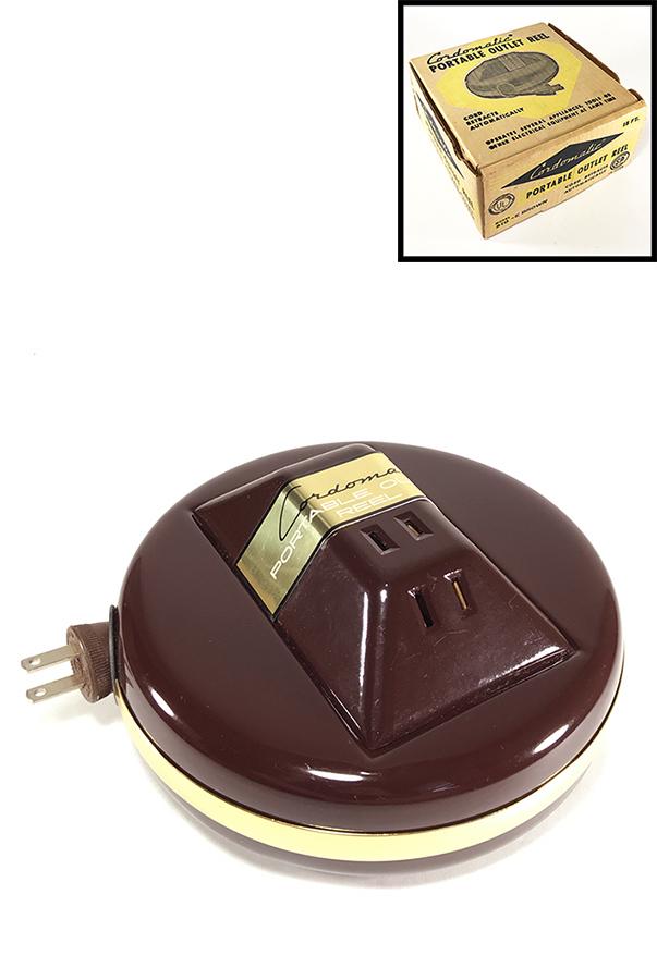 """画像1: 1950-60's """"Cordomatic"""" 3-Outlet Cord Reel ★Dead-Stock★ (1)"""