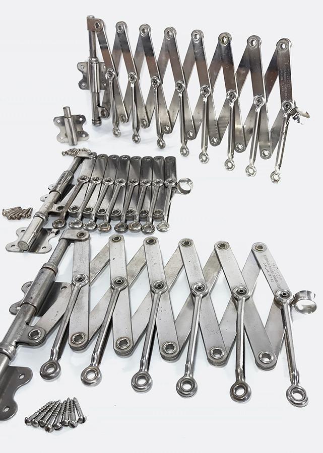 """画像1: ☆超・Mint Condition☆ 1920's """"EXTENSION"""" Steel Garment Hanger Rack 【ビス付き完品!!- 3台セット】 (1)"""