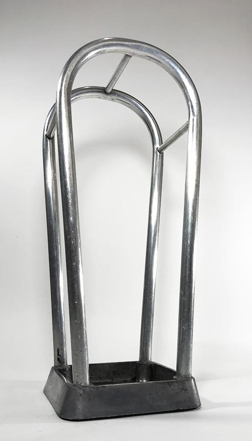 """画像1: 1930's German Art Deco """"ALUMINUM"""" Umbrella Stand (1)"""