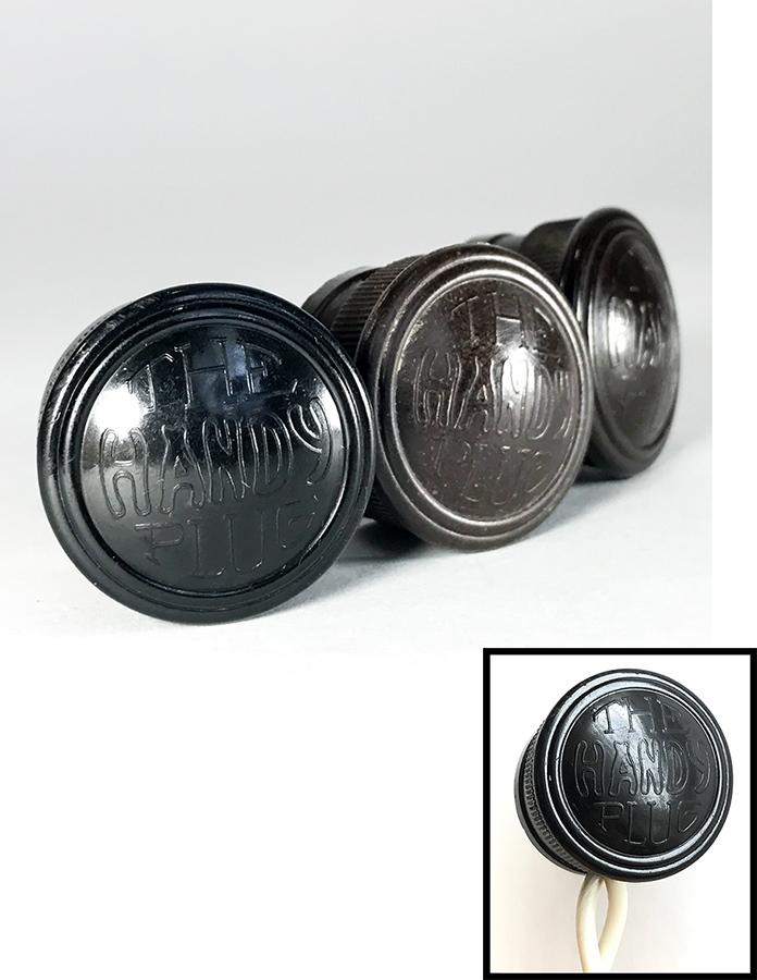 画像1: Early-1930's 【THE HANDY PLUG】 Brown Bakelite Electric Plug -*3個セット*- (1)