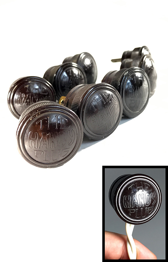 画像1: Early-1930's 【THE HANDY PLUG】 Brown Bakelite Electric Plug -*残り4個*- (1)