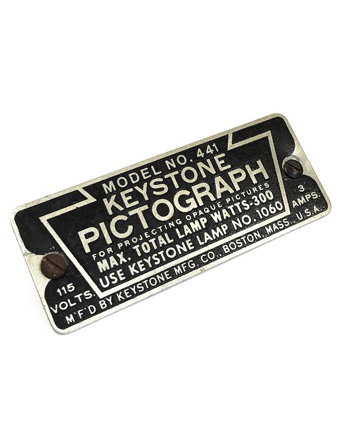 画像1: 1930's【KEYSTONE PICTOGRAPH】Aluminum Plate (1)