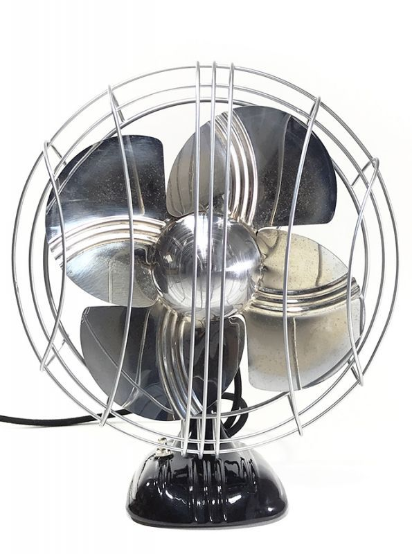"画像1: ""Fully Restored"" Early-1930's Machine Age Electric Fan (1)"