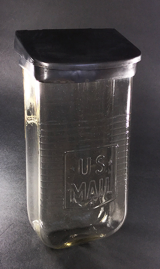 """画像1: 1930-40's Wall Mount """"VISIBLE"""" Glass MAIL BOX (1)"""