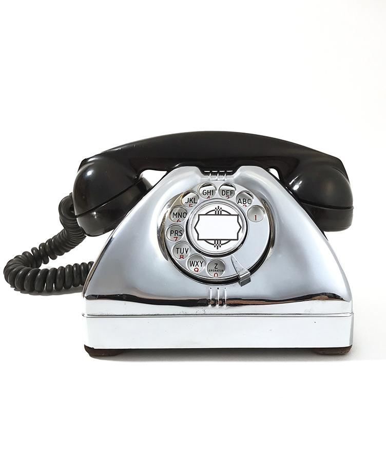 画像1: - 実働品 - 1940's U.S.ARMY Chromed Telephone 【BLACK × SILVER】 (1)