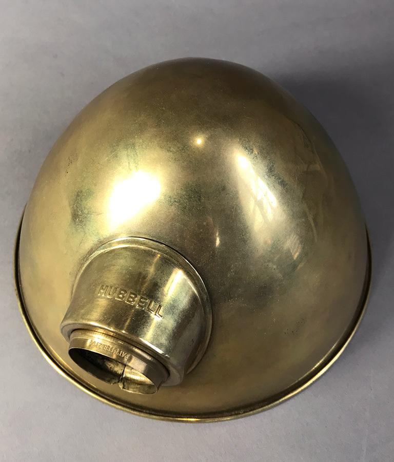 画像1: 1920-30's【HUBBELL】Brass Lamp Shade (1)