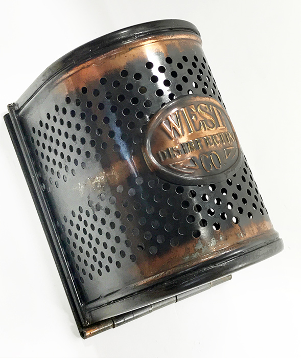"画像1: 1910-20's ""West Disinfecting Co. N.Y."" Steel Mesh Box 【Dead-Stock】 (1)"