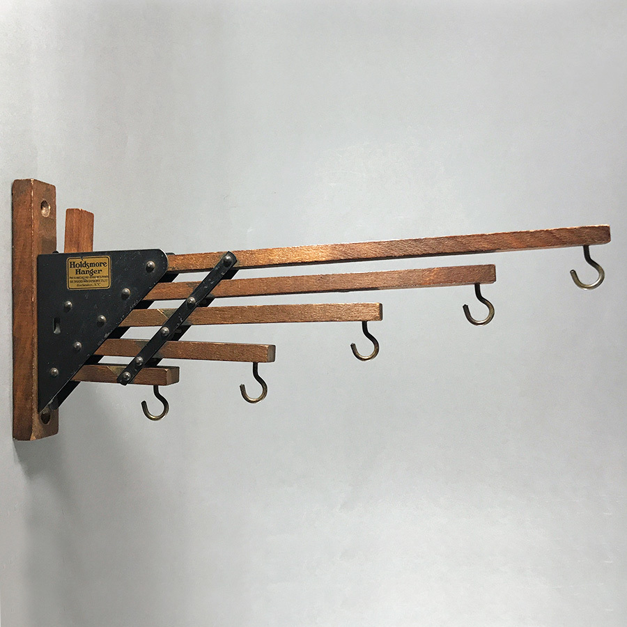 "画像1: 1920-30's ""Holds more Hanger"" Wood&STEEL Folding Hanger (1)"