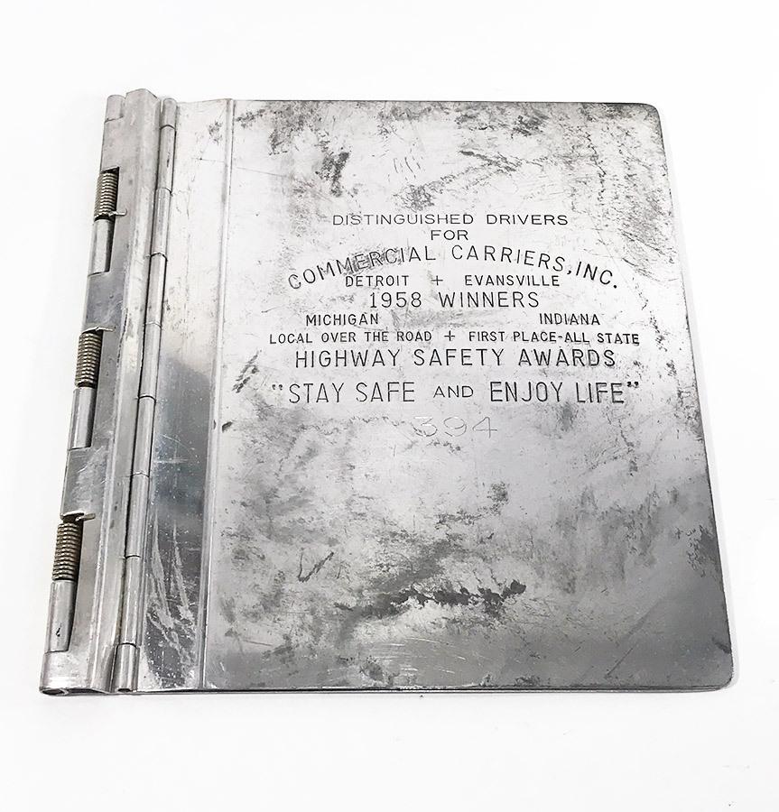"""画像1: 1950's """"Machine Age"""" Aluminum BINDER (1)"""