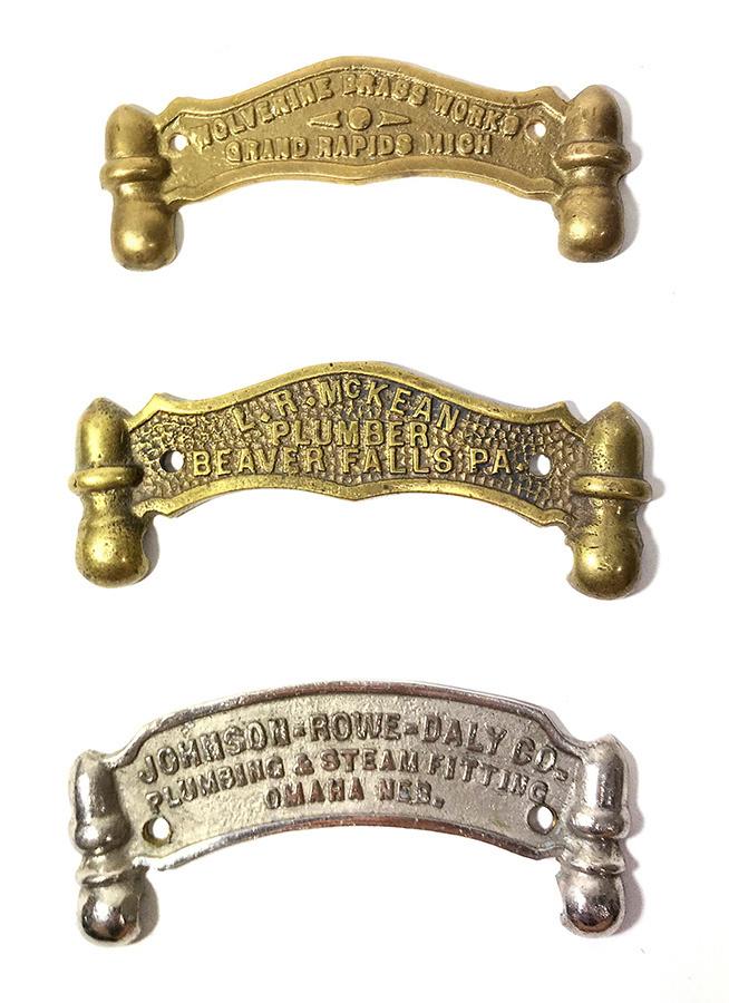 画像1: 【処分品】 1900's Brass Advertising Plate -*バラ売り*- (1)