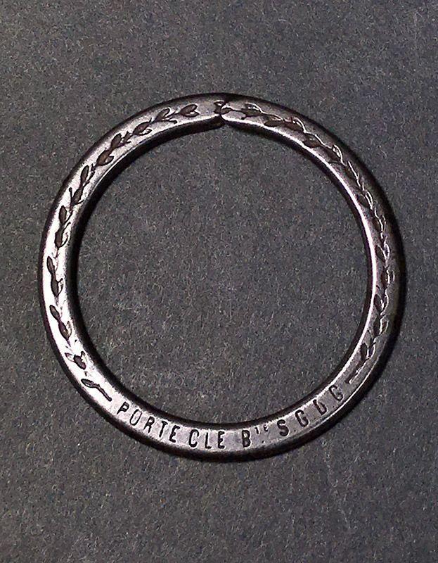 """画像1: 【PORTE CLE Bte S.G.D.G.】 French """"BIG!"""" Key Ring (1)"""