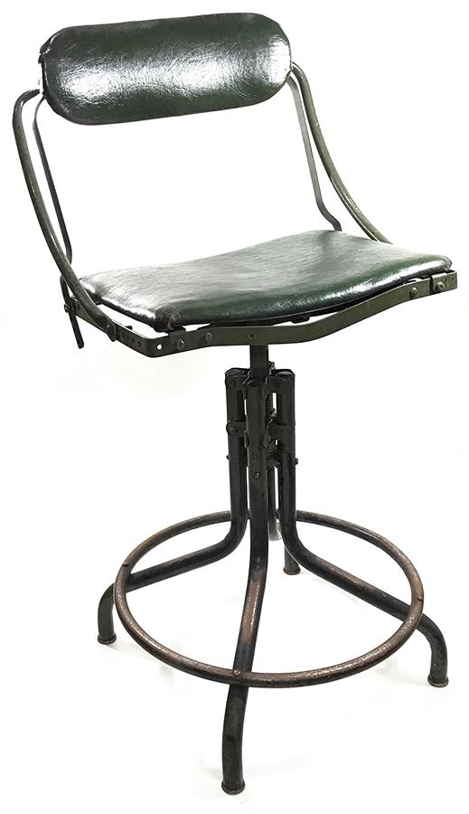 """画像1: 1930's """"Machine age"""" Swivel Drafting Chair (1)"""