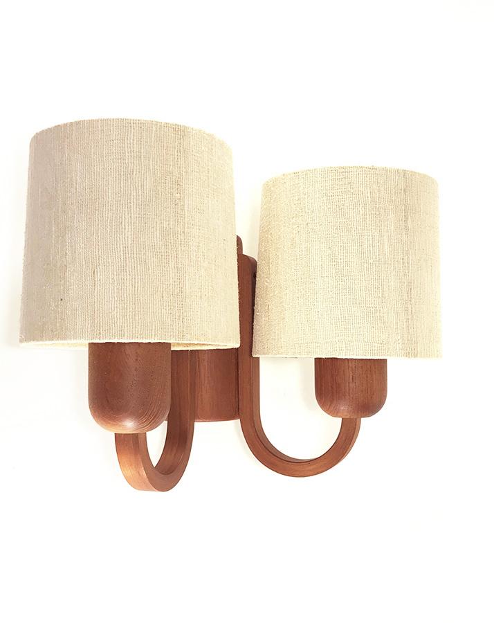 """画像1: 1960-70's  """"Domus"""" German Wood Sconce (1)"""