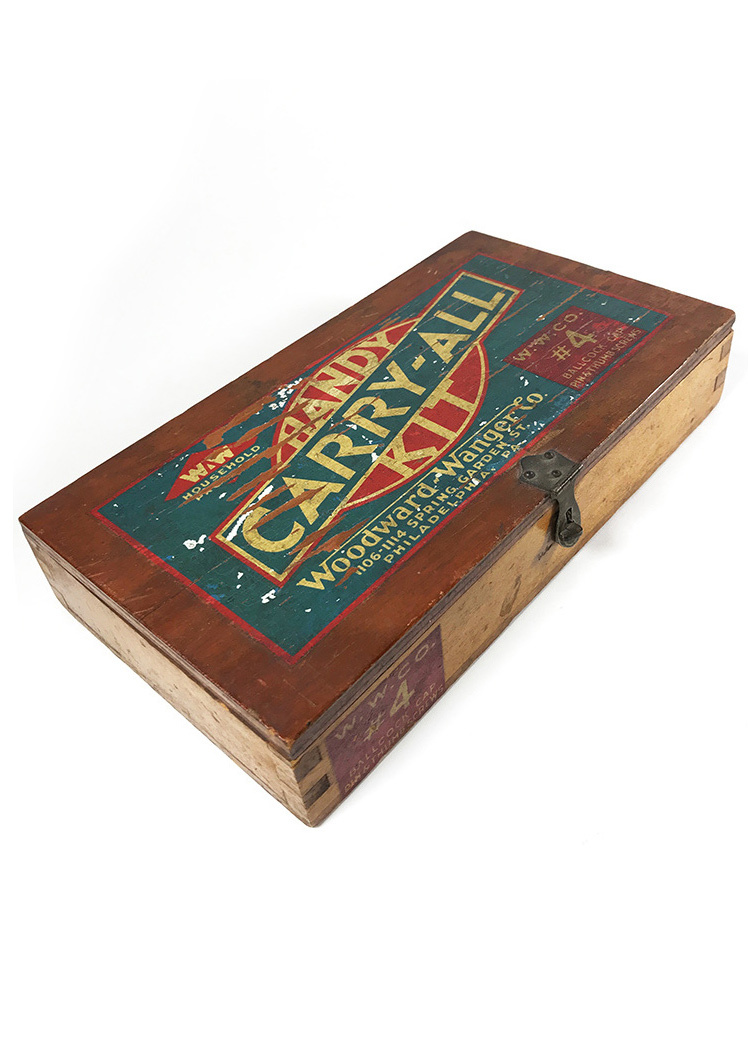 "画像1: 1930's ""CARRY-ALL"" Advertising Wood Box (1)"