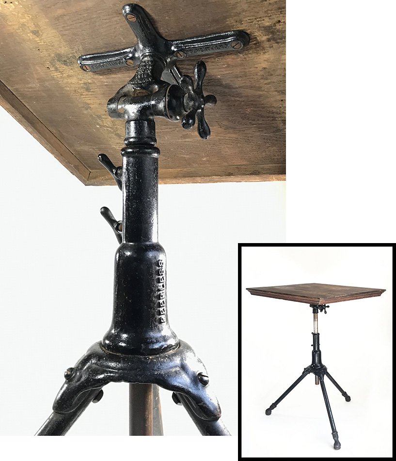 "画像1: 1910's ""Cast Iron"" Adjustable Drafting Table (1)"