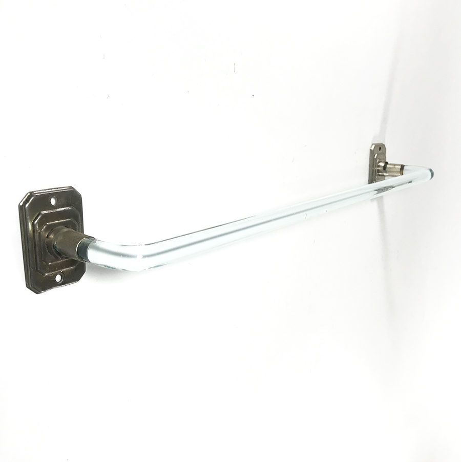 "画像1: 1940〜50's ""Art Deco"" Glass Towel Bar 【Short】 (1)"