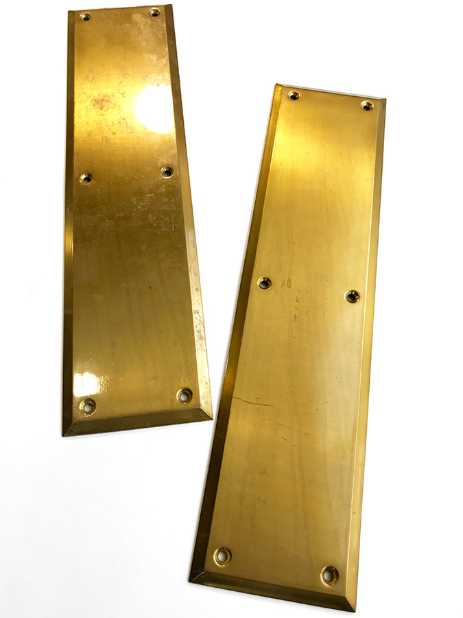 "画像1: 1930-40's ""HEAVY"" Brass  Door Push Plates (1)"