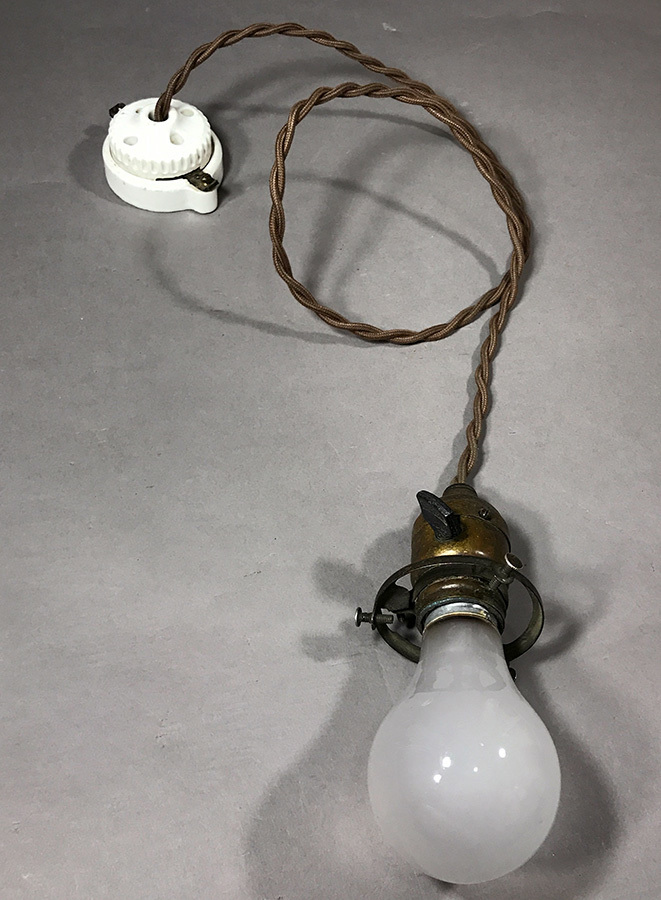 """画像1:  1900-10's """" GECO."""" Socket Pendant Lamp  (1)"""