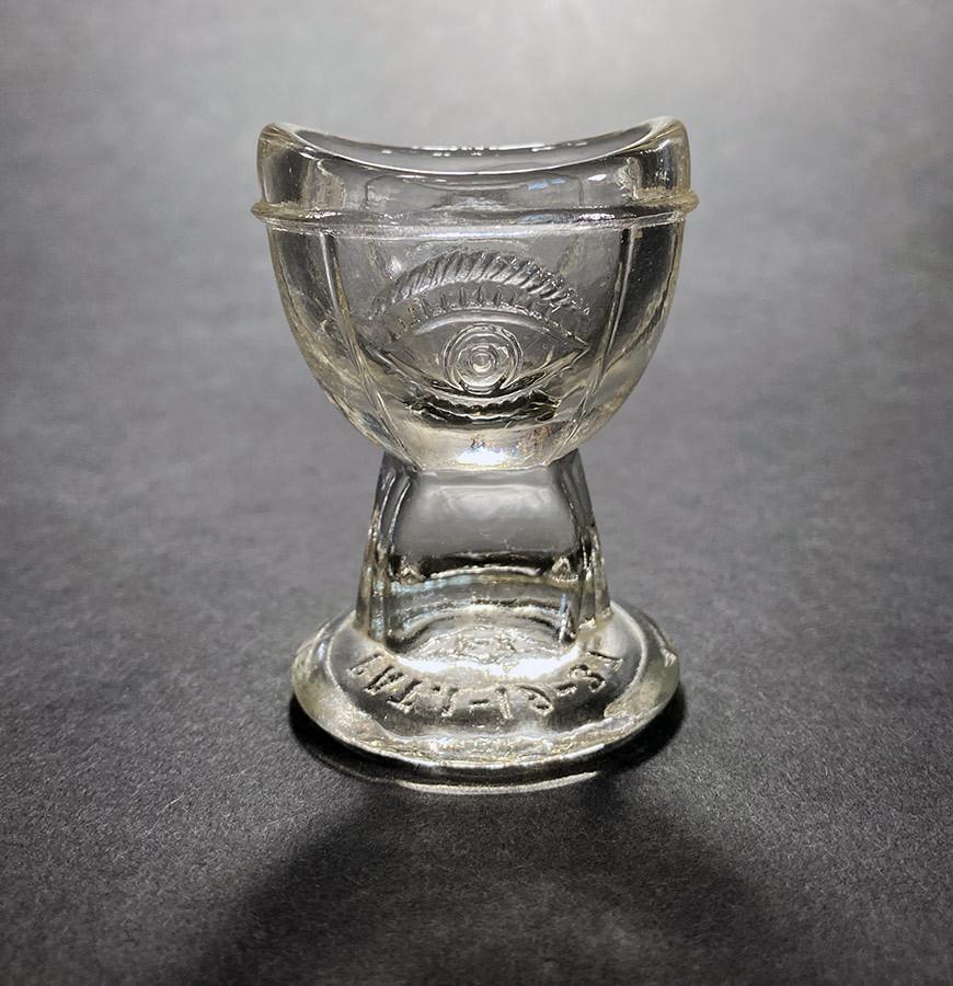 """画像1: 1930's """"め"""" Eye Wash Glass Cup (1)"""