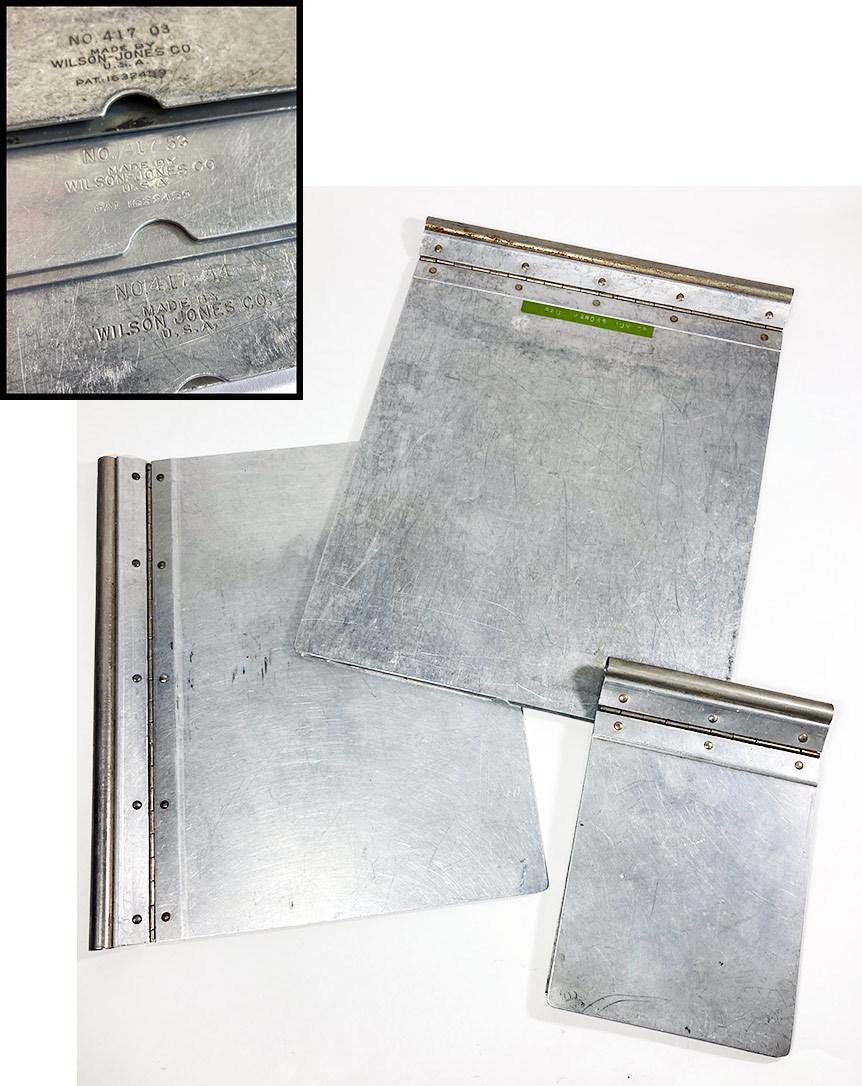 """画像1: 1920's 【Wilson-Jones Co.】 """"Machine Age"""" Aluminum Riveted BINDER  【3冊セット】 (1)"""