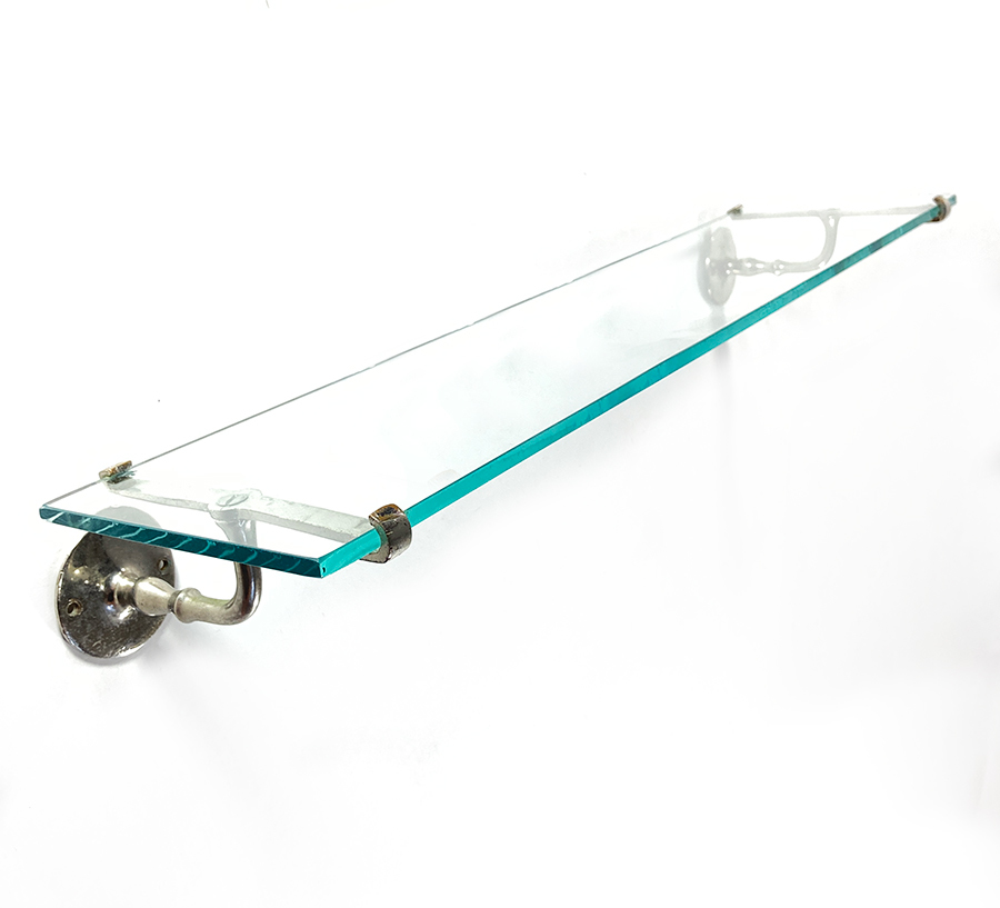 画像1: 1900-10's Bathroom Glass Shelf (1)