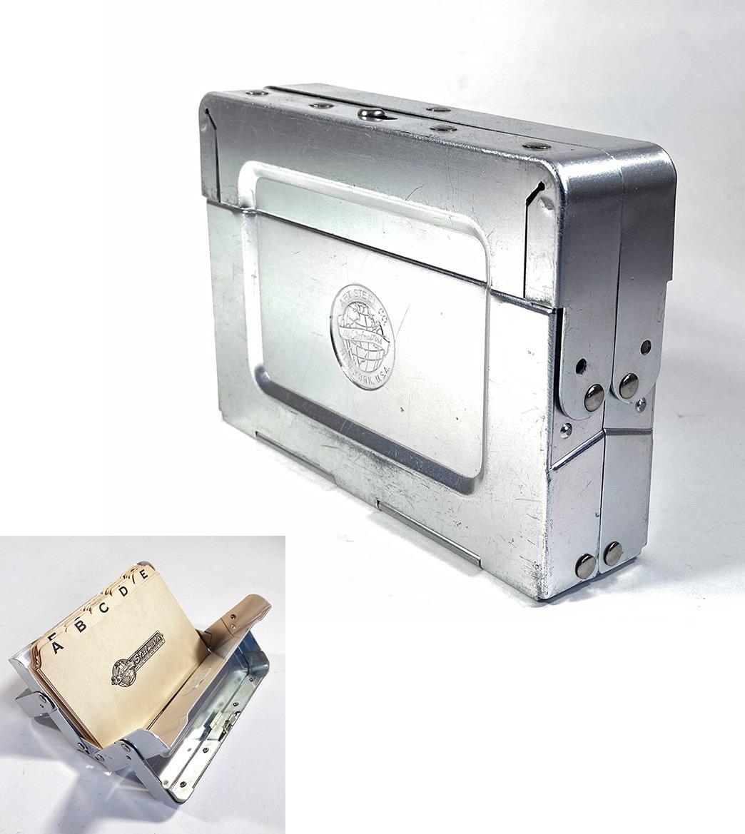 """画像1: 1950-60's """"ASCO New York"""" Aluminum Box  (1)"""