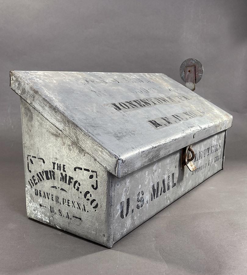"""画像1: 1900-10's """"Shabby"""" Stenciled U.S. MAIL BOX (1)"""