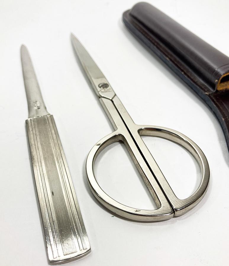 画像1: 1930-40's【SOLINGEN】Germany Scissors & Leather Case (1)