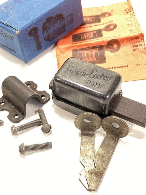"画像1: 1940's""Gewu-Extra"" German Bicycle Locks in Original Box (1)"