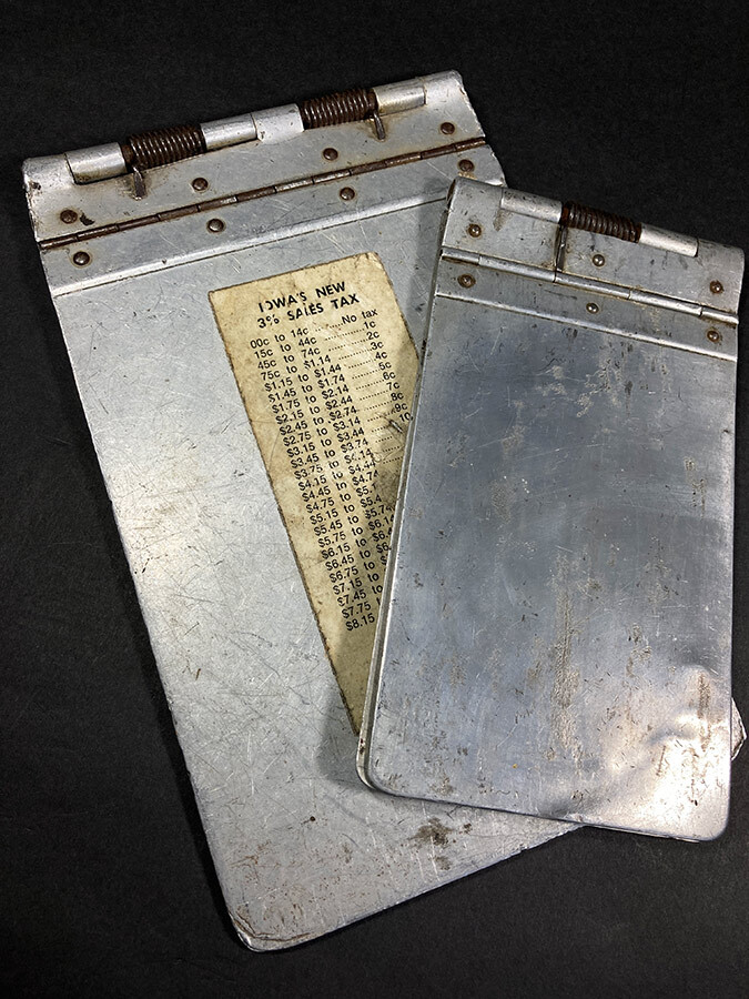 "画像1: 1940's 【Wilson-Jones Co.】 ""Machine Age"" Aluminum Riveted MINI BINDER  【2冊セット】 (1)"