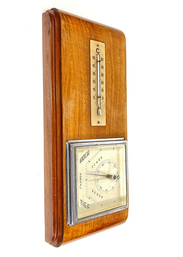 """画像1: 1930's German Art-Deco """"STREAMLINE"""" Wall Thermometer (1)"""