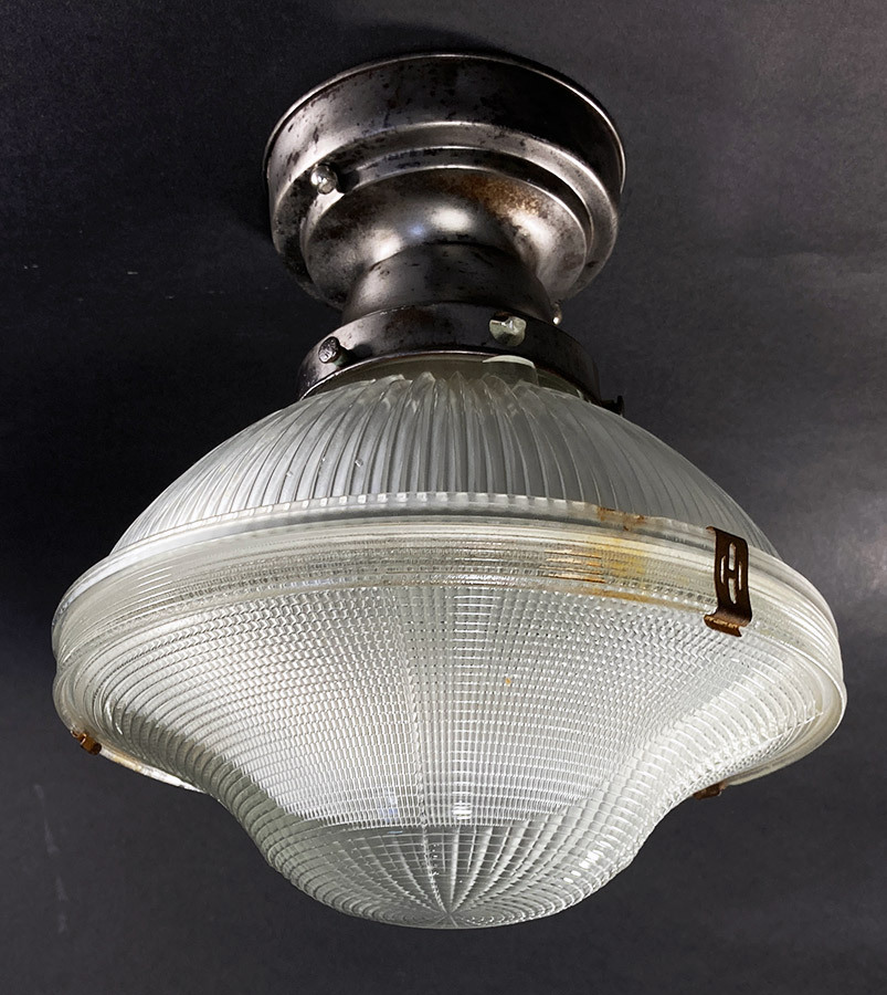"画像1: 1940-50's ""HOLOPHANE"" Ceiling Light (1)"