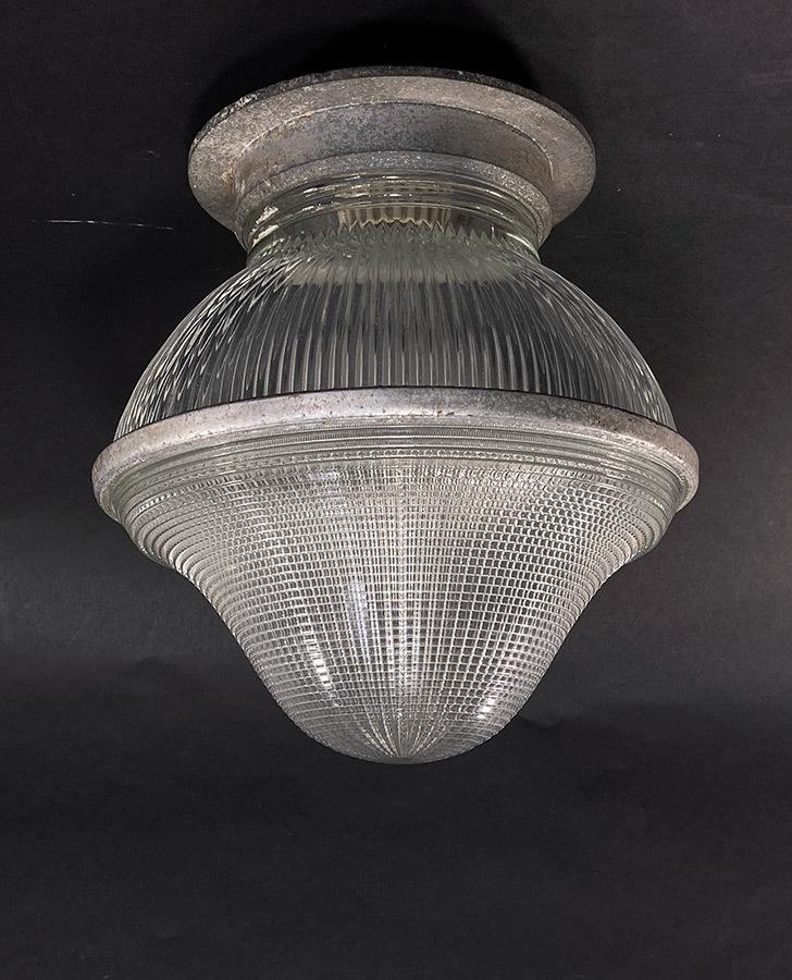 """画像1: 1940-50's """"HOLOPHANE"""" Ceiling Light (1)"""