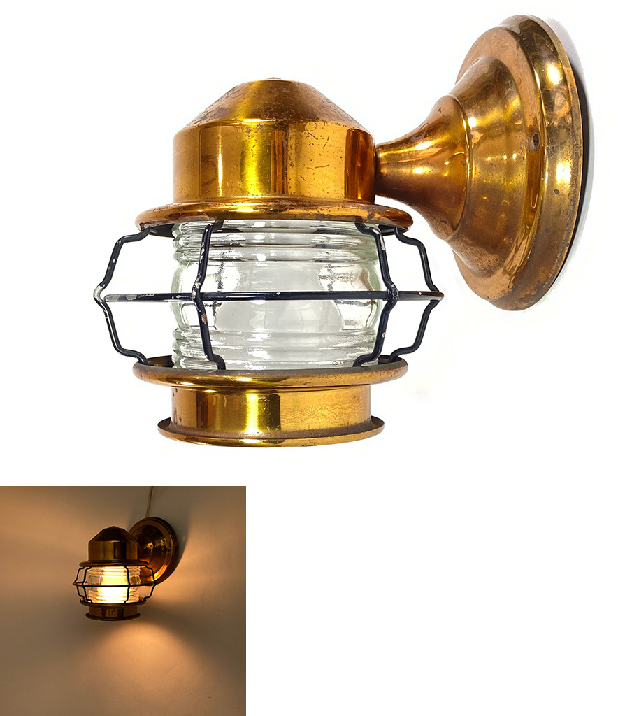 "画像1: 1930〜40's ""Caged"" Outside Porch Lamp (1)"