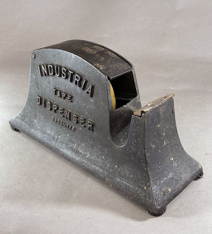 画像1: ★超 HEAVY DUTY !!★  1930-40's【INDUSTRIA】Iron Tape Dispenser (1)