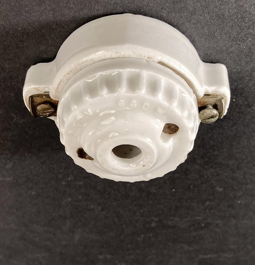 画像1: 1910-20's Porcelain Rosette Lamp parts (1)
