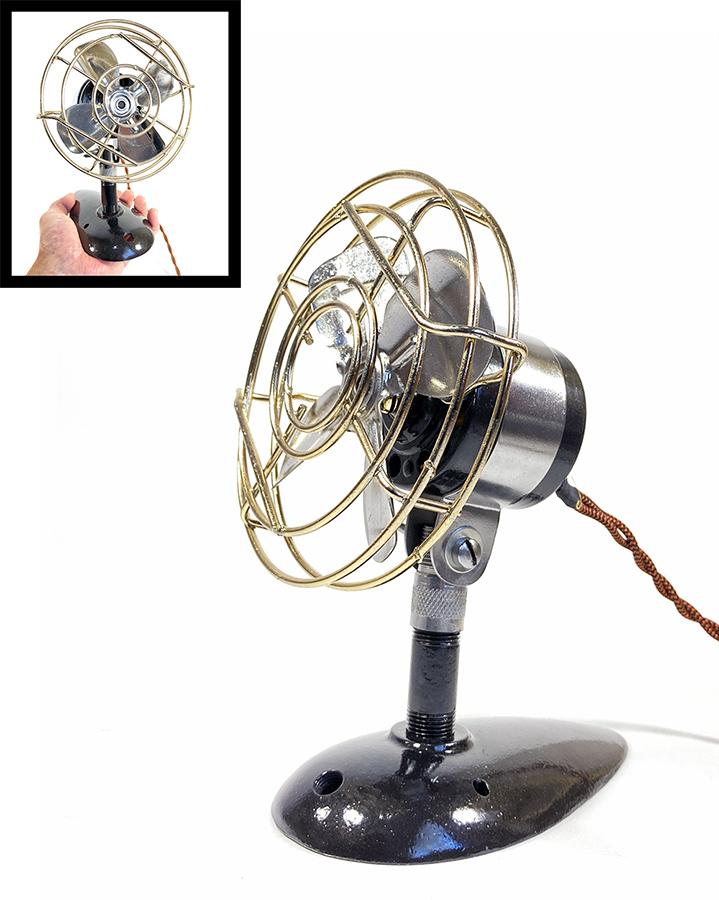 """画像1: """"Fully Restored""""  Early-1940's 【Century Lighting Inc. New York】 超-MINI Electric Fan (1)"""