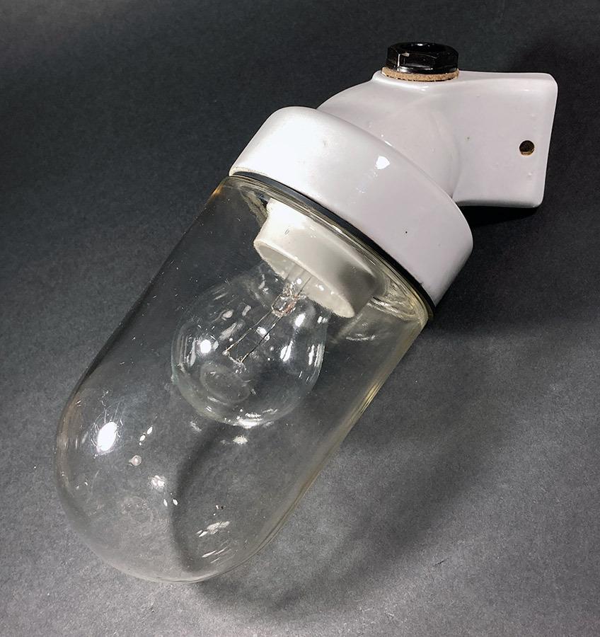 画像1: 1940-50's German Glass&Porcelain Wall Light (1)