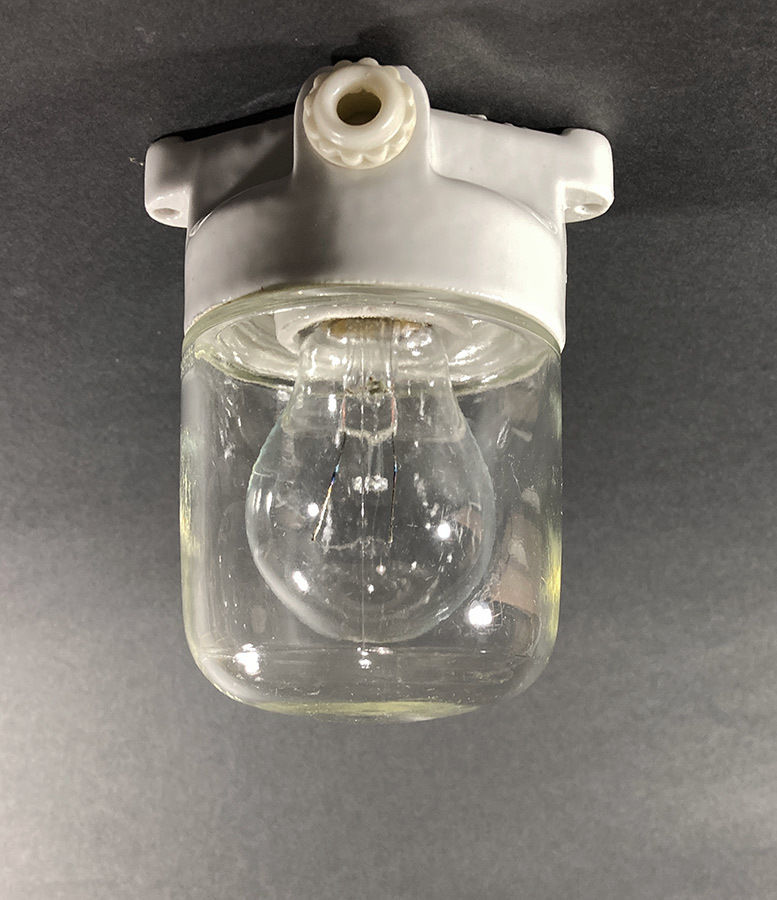 """画像1: 1940-50's German Glass&Porcelain Ceiling/Wall """"MINI"""" Light (1)"""