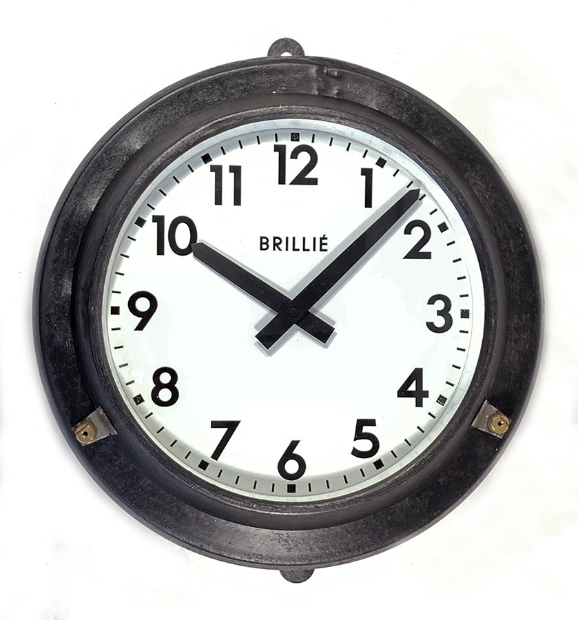 画像1: 1950's【BRILLIE】 French Factory Clock (1)
