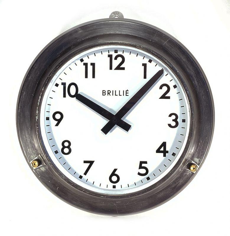 画像1: 1950's【BRILLIE】 French Factory Clock (1)