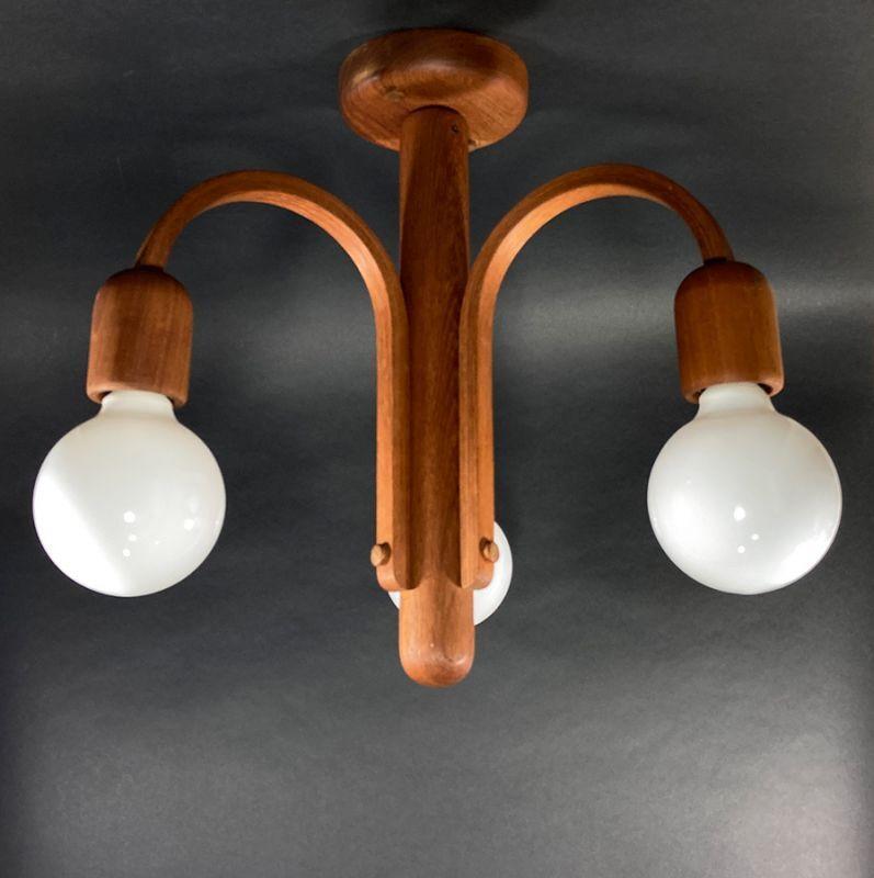 """画像1: 1960-70's  """"Domus"""" German Wood Chandelier (1)"""