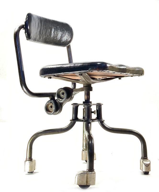 """画像1: Early-1930's   ★Sturgis Posture Chair Co.★   """"Machine age"""" Swivel Desk Chair   【超!! Mint Condition 】 (1)"""