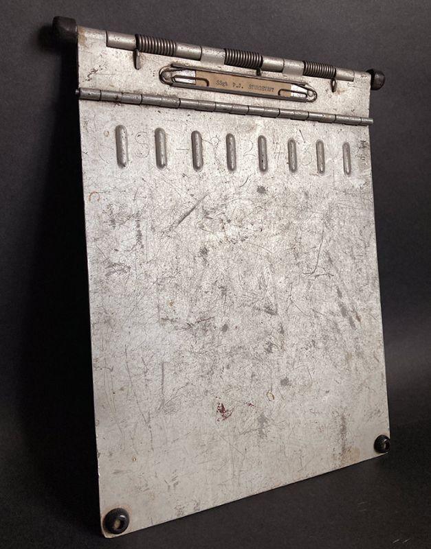"""画像1: 1940's """"Machine Age"""" Aluminum Riveted BINDER  【DASHMETAL PRODUCTS CO.  BROOKLYN  N.Y. 】 (1)"""