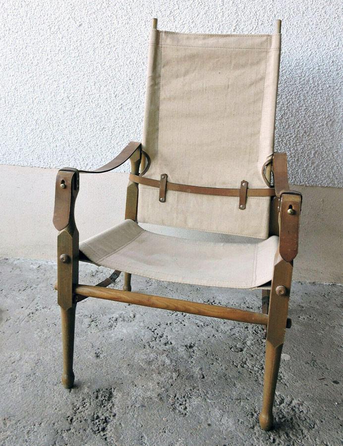 画像1: 1940-60's Germany  ☆Safari Chair☆ (1)