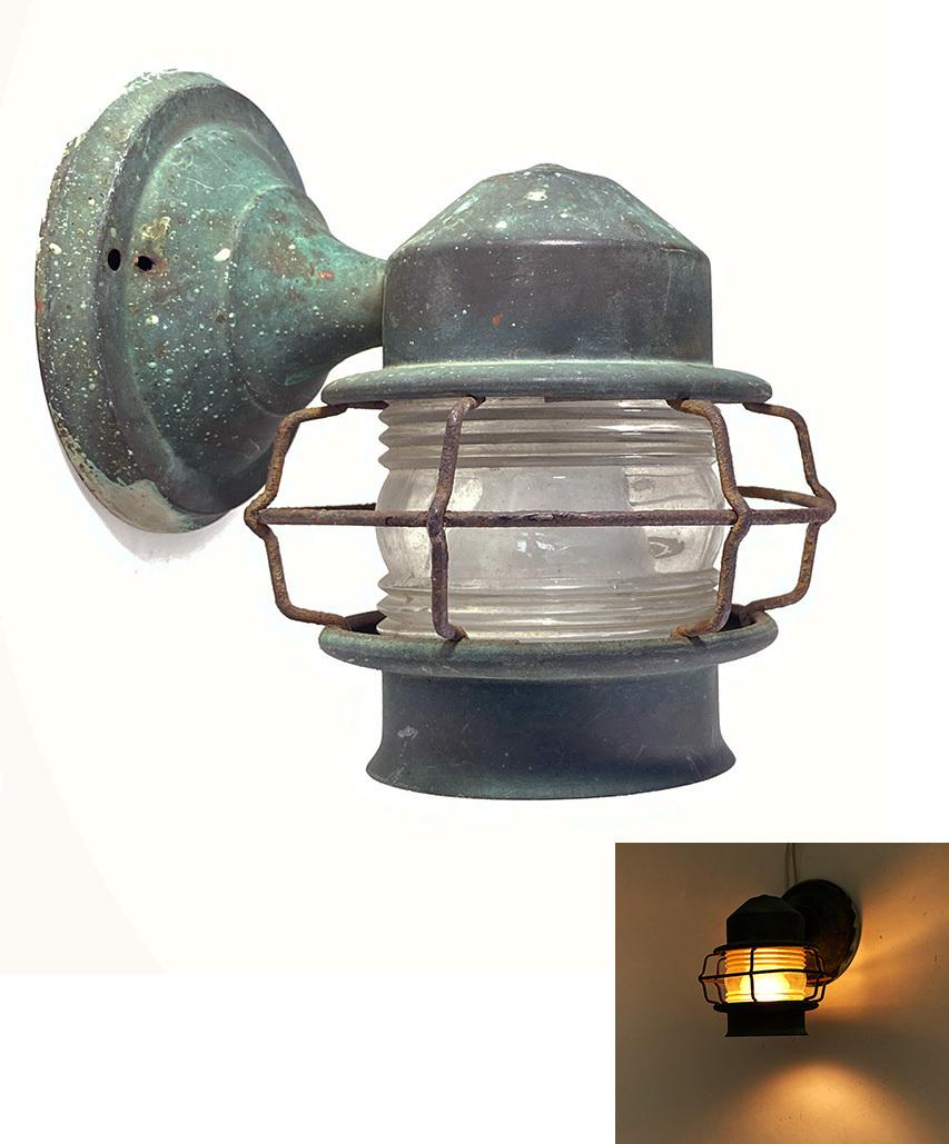 """画像1: 1930's """"Shabby"""" Caged Porch Lamp (1)"""