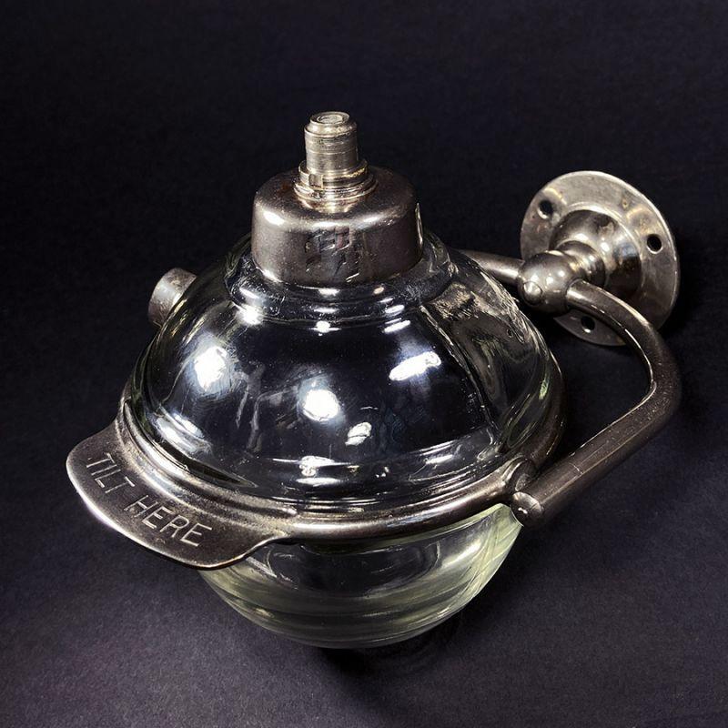 """画像1: 1910-20's """"N.Y."""" Glass Liquid Soap Dispenser (1)"""