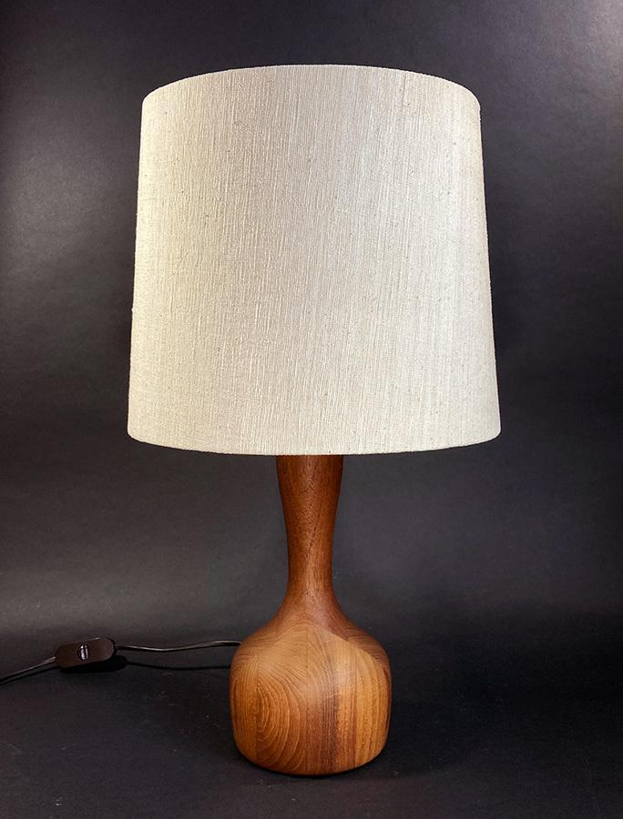 """画像1: 1960-70's  """"Domus"""" German Wood Table Lamp 【BIG!!】 (1)"""